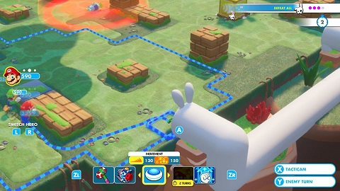 Mario and friends can enter pipes to move further.