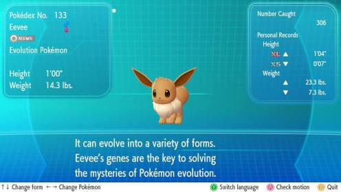 I needed 306 Eevee to power up one to full potential